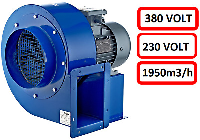 Centrifugal blower TURBO fan Radial 230V 400V 1950m³h