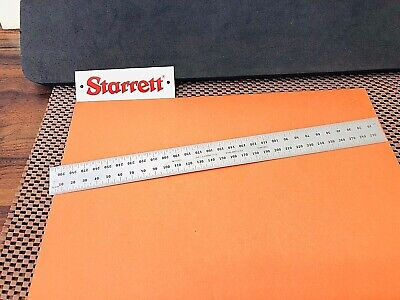 STARRETT No.C335S-300 300mm Semi-Flexible Steel Rule with Millimeter Graduations