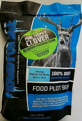 4 Lbs Deer Food Plot Frigid Forage Pure Trophy Clover Ladino Alsike Red Mammoth