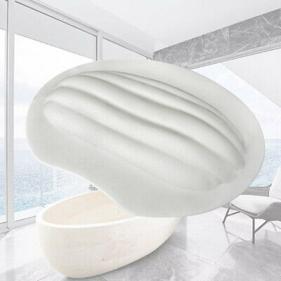 Cushioned Bath Pillow With Slip Resistant Suction Cups Bathroom Accessories