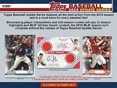 2019 Topps Update - (1) Factory Sealed Hobby Box + 1 Silver Pack - PreSell