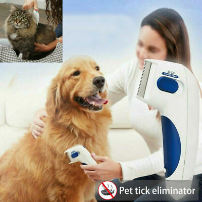 Fleas Doctor Electric Flea Comb Kill Dog Cat Pet Brush Lice Cleaner Tick Remover
