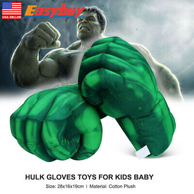 Hulk Hands Plush Green Boxing Gloves Fist Performing Props For Kids Baby Gift