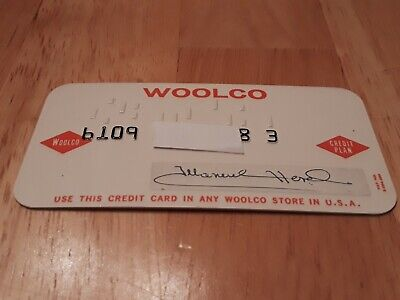 Vintage Woolco Charge card Merchant Credit Card department store discount
