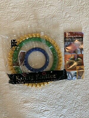 Knifty Knitter Round Looms Peg Yellow Green Blue No Accesories