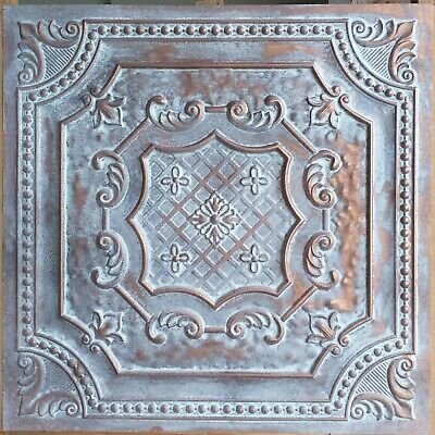 Faux tin ceiling tiles weathering copper pressed tin wall panels PL04 10pcs/lot