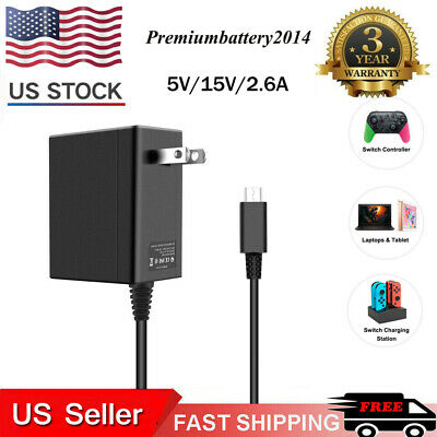 5V / 15V 2.6A USB Type C AC Adapter Wall Charger Power For NS Nintendo Switch