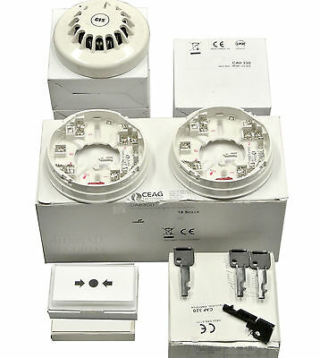 6 Ceag / Cooper Smoke Detector Heat + Accessories Package for Bus Fire Detection