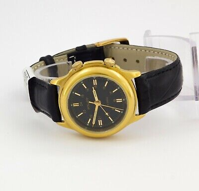 Poljot Alarm's & Vibrates, men's gold plated wristwatch. Cal. 2612.1, black dial