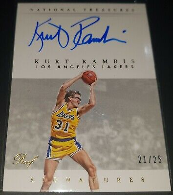 Kurt Rambis 2014-15 National Treasures SIGNATURES GOLD PROOF Auto (#'d 21/25)