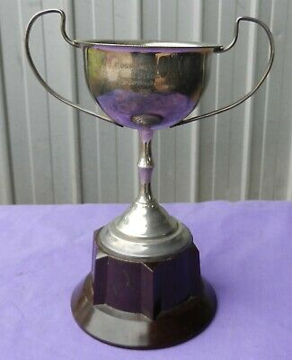 Vintage Trophy Cup Football 1948 EPNS A1 Silver-Plated with Bakelite Base  (b)