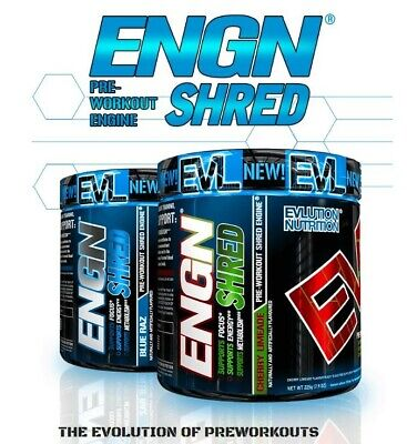EVLUTION NUTRITION ENGN Shred Advanced Pre-Workout Cherry Lime Flavor 30 Serv.