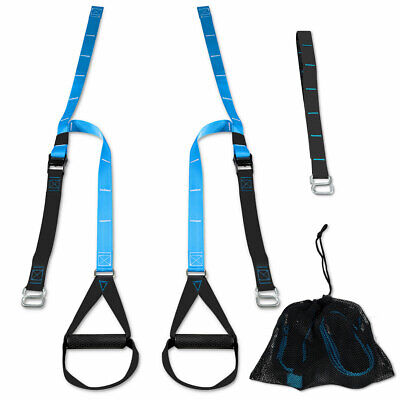 Bodyweight Fitness Resistance Straps Trainer Adjustable W/ Extension Strap Bag
