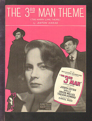 3rd Man 1950 (Harry Lime Theme) ORSON WELLES Movie Piano Solo Sheet Music