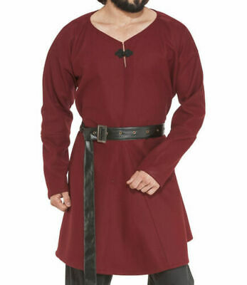 MEDIEVAL CLOTHING CELTIC VIKING Red Tunic With Surcoat
