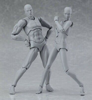 Figma Archetype: Next He & She set - MIB GENUINE artist models Japanese import
