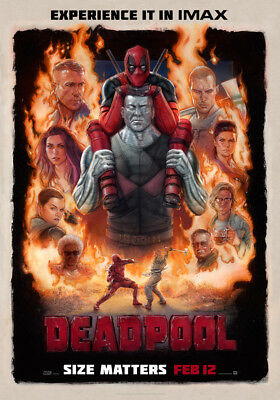 DEADPOOL IMAX POSTER LAMINATED ART POSTER 24x36in (61x91cm)