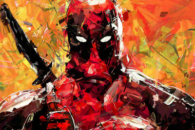 DEADPOOL PAINTING LAMINATED ART POSTER 24x36in (61x91cm)