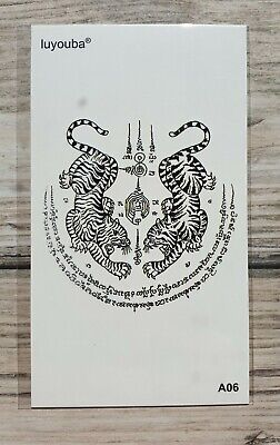 *UK SELLER* Tigers TEMPORARY TATTOO Waterproof Body Art /-a402-/
