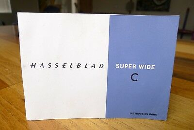 Hasselblad SWC Instruction Manual 1959 Original Rare Find Excellent+ Ships Today
