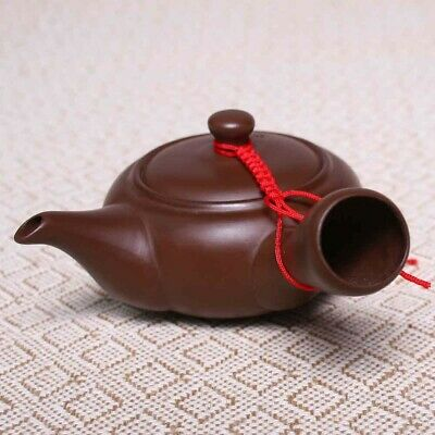 Chinese Ceramic Infuser Teapot Purple Clay Kung Fu Tea Ware Handmade Clay Teapot