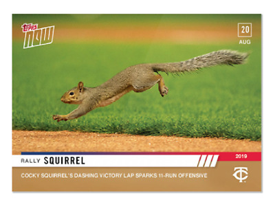 2019 Topps Now #724 Cocky Rally Squirrel sparks Twins 11-Run Offensive PS