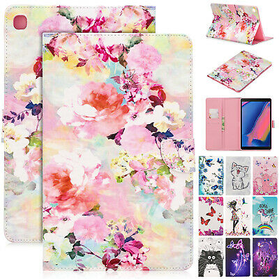 For Samsung Galaxy Tab T510 T515 2019 Case Magnetic Leather Wallet Stand Cover