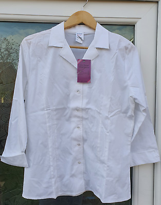 john lewis girls senior fitted blouse white age 16