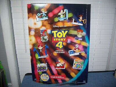 2019 McDonald's Disney Toy Story 4 Happy Meal - Store Display w/ Toys