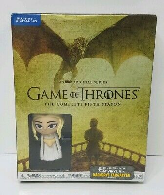 Game of Thrones The Complete 5th Season (2018, Blu-ray+Digital+Funko) NEW SEALED