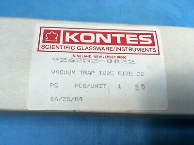 Vintage Kontes Vacuum Trap Tube Size 22 34/45 Joint 926252-0022 New in open box