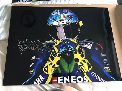 Signed Valentino Rossi Large Motogp Yamaha  Photo. Stunning.2