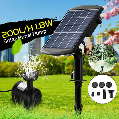 200L/H IP68 Solar Power Water Pump Submersible Fountain Pond Pool Garden US !