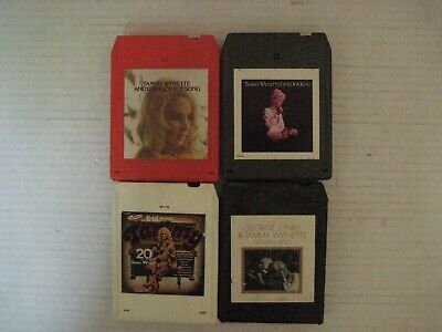 4 Vintage Tammy Wynette  8 Track Tapes-In Good Condition!