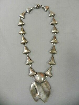 GENUINE 1930s CLASSIC ART DECO SILVER METAL NECKLACE