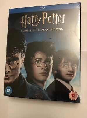 Harry Potter- Complete 8- Film Collection Boxset (Blu-ray) Daniel Radcliffe NEW
