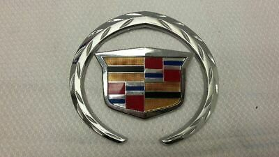 11-14 Cadillac Cts Rear Decklid Trunk Emblem Logo Badge Wreath And Crest