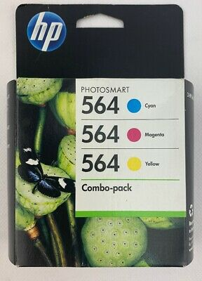 HP 564 genuine Combo Pack Ink Cartridges Multicolor CD994FN New Sealed Expired