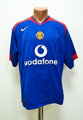 Manchester United 2005/2006 Away Football Shirt Jersey Nike Size L Adult