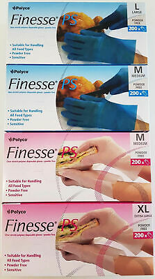M L XL Powder Free Disposable Food Prep Kitchen Medical Gloves Box of 100 - 200