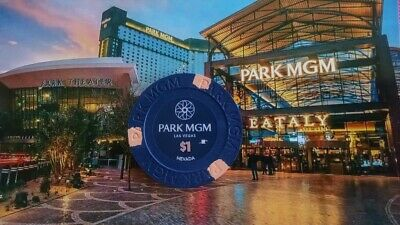 Park Mgm Hotel Casino - $1 Gaming Chip - Las Vegas Nv - Formerly Monte Carlo