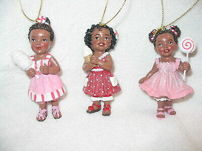 19122 NEW Individually packaged Cherub Wing Ornaments Set of 4 African American