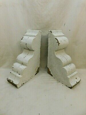 1800's Antique Wood CORBELS Scroll Design VICTORIAN EASTLAKE Style Large ORNATE