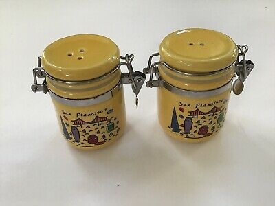 San Francisco Yellow Salt Pepper Shaker Luke A Tuke City Souvenir California
