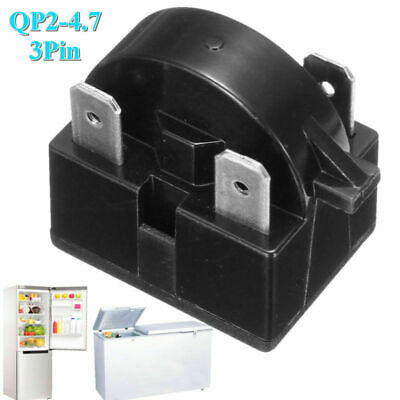 Refrigerator Start Relay PTC for QP-2-4.7 4.7 Ohm 3 Pin Vissani Danby Compressor