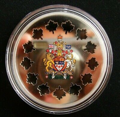 2 oz Evolving a Nation Silver Laser cut Maple Canada 2018 9999 RCM Coin $30