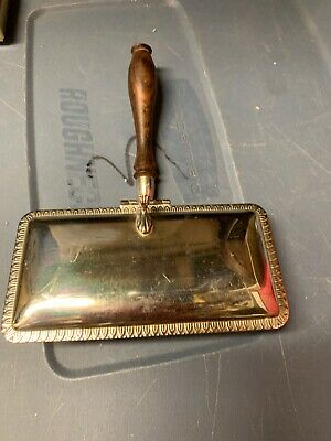 Vintage Silver Plate Silent Butler Table Crumb Catcher Sweeper K8