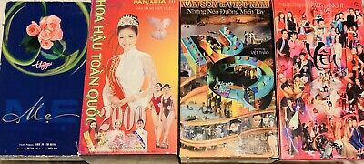 4 Vietnamese Music VHS - PARIS BY NIGHT 40 ; PBN 65 ; PANASIA ; Van Son
