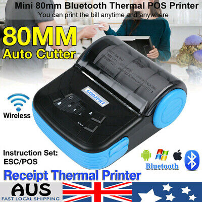 80mm Wireless POS Thermal Receipt Printer Office High Quality + Free Paper Roll