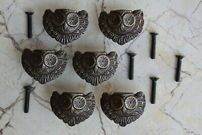 Cast Iron OWL cabinet drawer door knobs handles pull rustic Knob 6 pcs